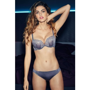 Wonderbra Refined Glamour Full Effect Lace BH + 2 Cups grau-silber