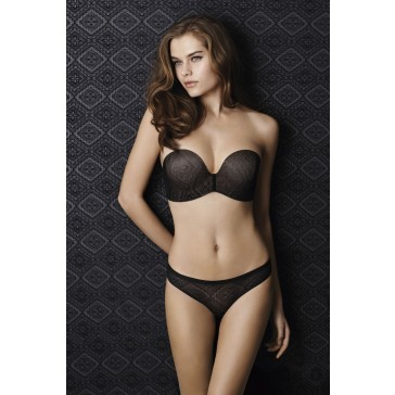 Wonderbra Perfect Strapless Lace BH schwarz