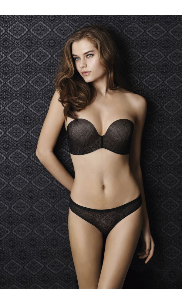 wonderbra perfect strapless lace bh. Black Bedroom Furniture Sets. Home Design Ideas