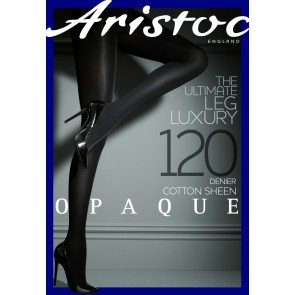 Aristoc Opaque 120D Cotton Sheen Tights black