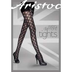 Aristoc Catwalk Trends Retro Diamonds Tight schwarz