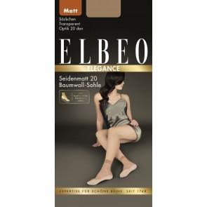 Elbeo Söckchen Seidenmatt 20 / 3er Pack gobi