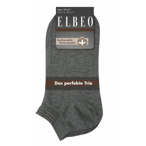 Elbeo Sneaker Men Cotton / 3er Pack grau melange