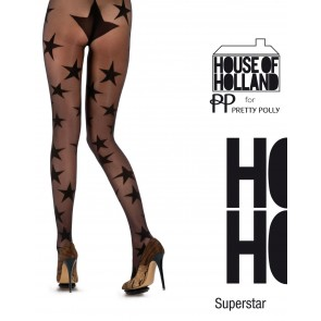 House of Holland Black Star Tights