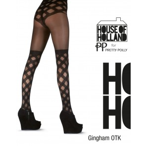 House of Holland Gingham Over Knee Tights