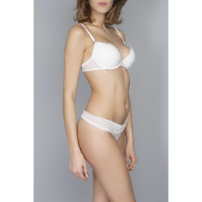 Lejaby Crystal Push-UP BH lilienweiß