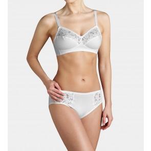 Triumph Cotton Lace Comfort bügelloser BH weiß