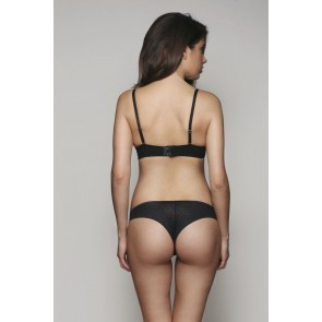 Gossard Glossies Animal Brazilian Slip schwarz