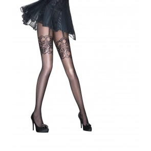Aristoc Catwalk Trends Mock Suspender Fishnet Tights schwarz