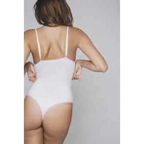 Lejaby Cotonne Moi String-Body weiß