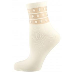 Elbeo Socke Dots und Stripes weiß