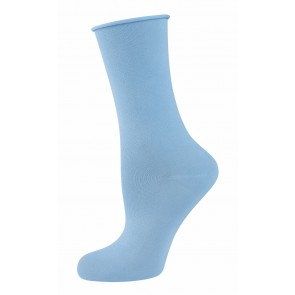 Elbeo Rollbund Socken Light Cotton Women hellblau