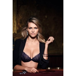 Wonderbra Refined Glamour Full Effect Lace BH + 2 Cups marineblau